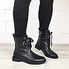 Женские демисезонные ботинки в черном цвете, из натуральной кожи  ( под заказ), фото 7