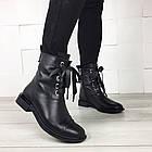 Женские демисезонные ботинки в черном цвете, из натуральной кожи  ( под заказ), фото 5