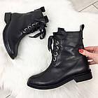 Женские демисезонные ботинки в черном цвете, из натуральной кожи  ( под заказ), фото 6