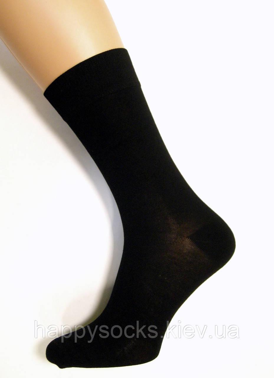 Носки мужские бамбуковые без шовные черного цвета