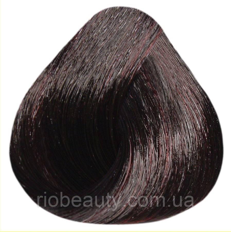Краска уход ESTEL SILVER De Luxe 4/75 Шатен коричнево-красный 60 мл