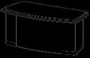 Стол руководителя Soft  26/102 2000х926х786