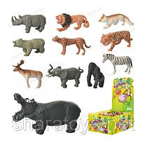 Набор диких резиновых животных 6 шт