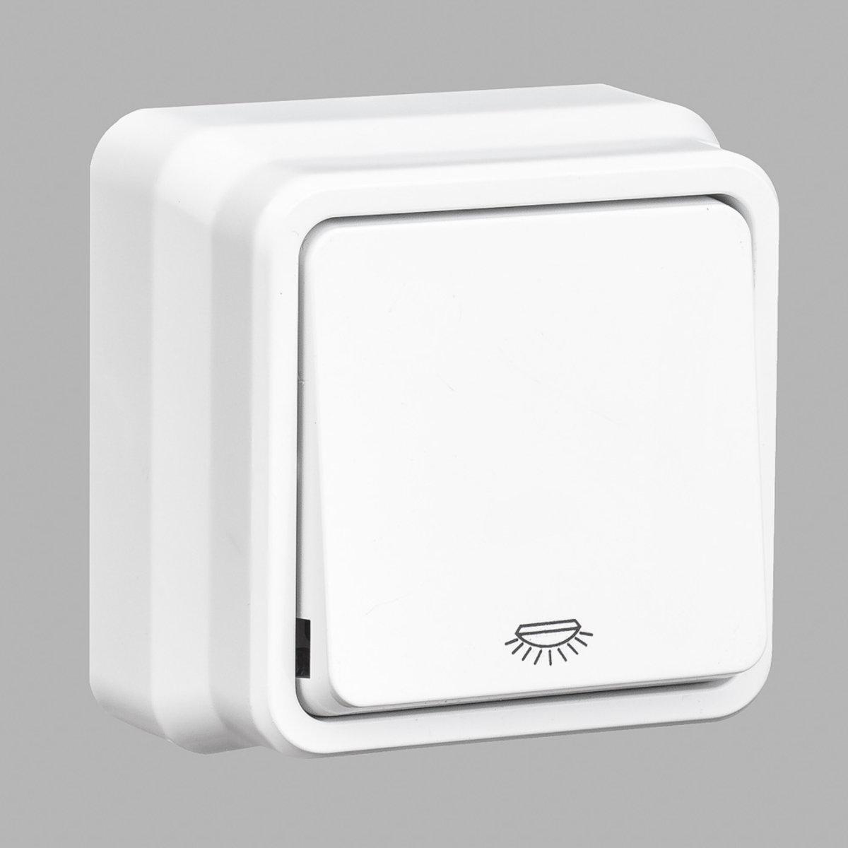 Misya кнопка контроля освещения 1-ая наружная белая