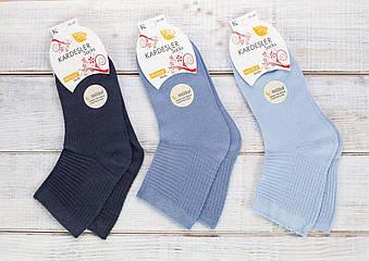 Жіночі носки з модала шкарпетки стейчеві Kardesler ароматизовані однотонні 36-40 12 шт в уп мікс 9 кольорів