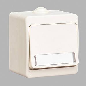 Кнопка звонка GUNSAN Nemliyer  с подсветкой и местом под этикетку влагозащищенная Кремовая