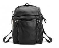 Черный кожаный рюкзак Tiding Black