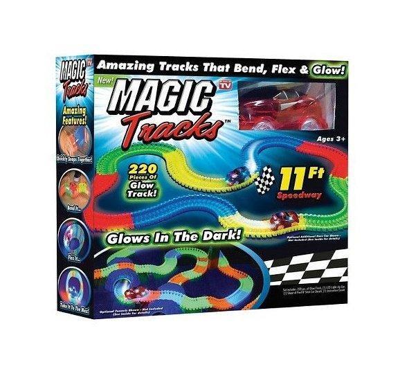 Мэджик Трек Magic Tracks Оригинал 220 деталей, Игрушечная гоночная трасса