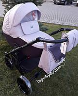 Дитяча коляска 2в1 Adamex Hybryd Plus BR228 Світло бузковий з баклажанним