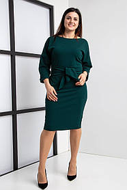 Стильное женское платье размер 44-64 бутылочное