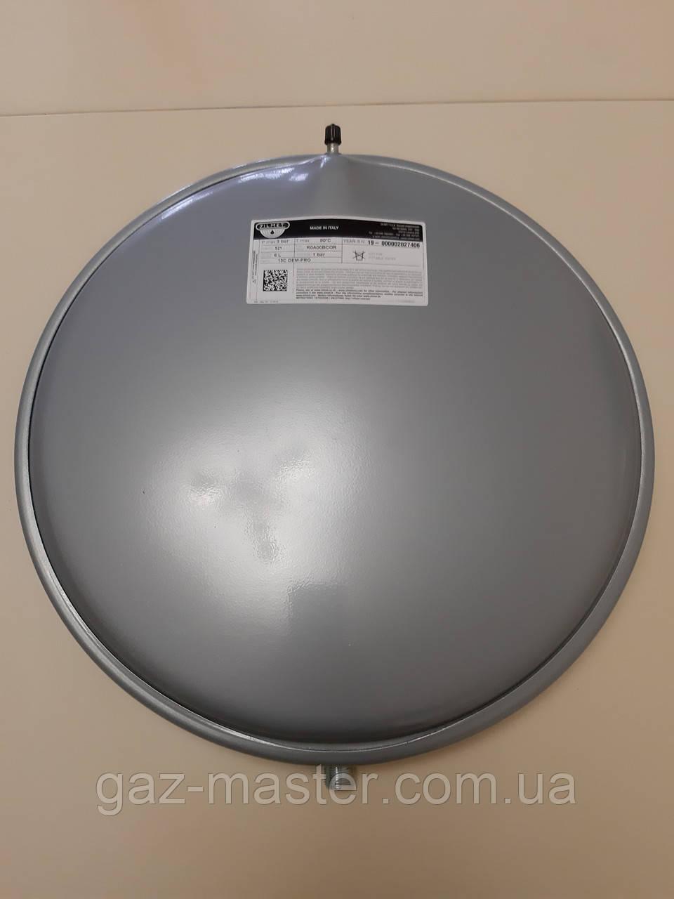 """Бак расширительный Zilmet Объем 6 литров 3/8""""G D392 H=61 мм 3 bar 90°C"""