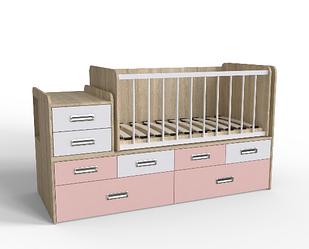 Дитяче ліжечко для новонародженого з маятником ДМ 4114 Мебекс