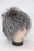 Женская шапка из меха чернобурки