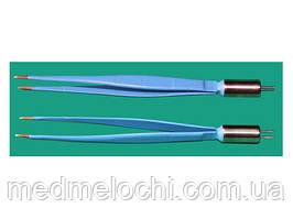Пінцет біполярний електрохірургічний 160мм, бранши 10х3х1