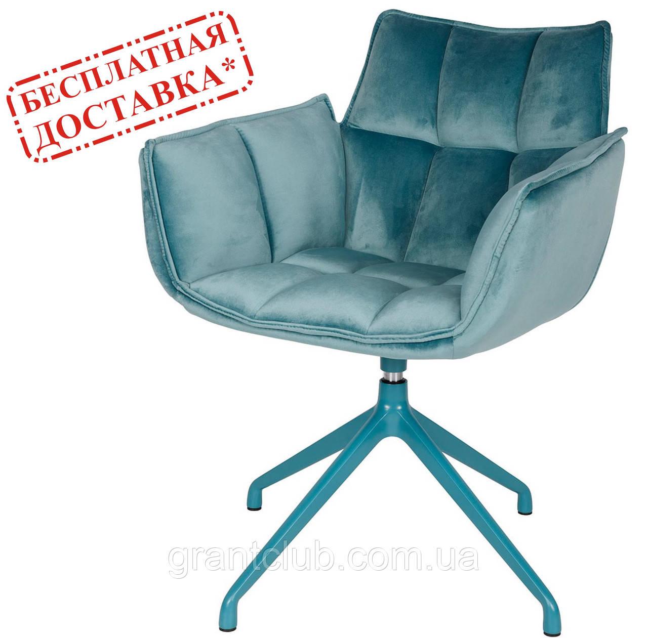 Кресло поворотное CHARDONNE (Шардоне) велюр бирюзовый Nicolas (бесплатная адресная доставка)
