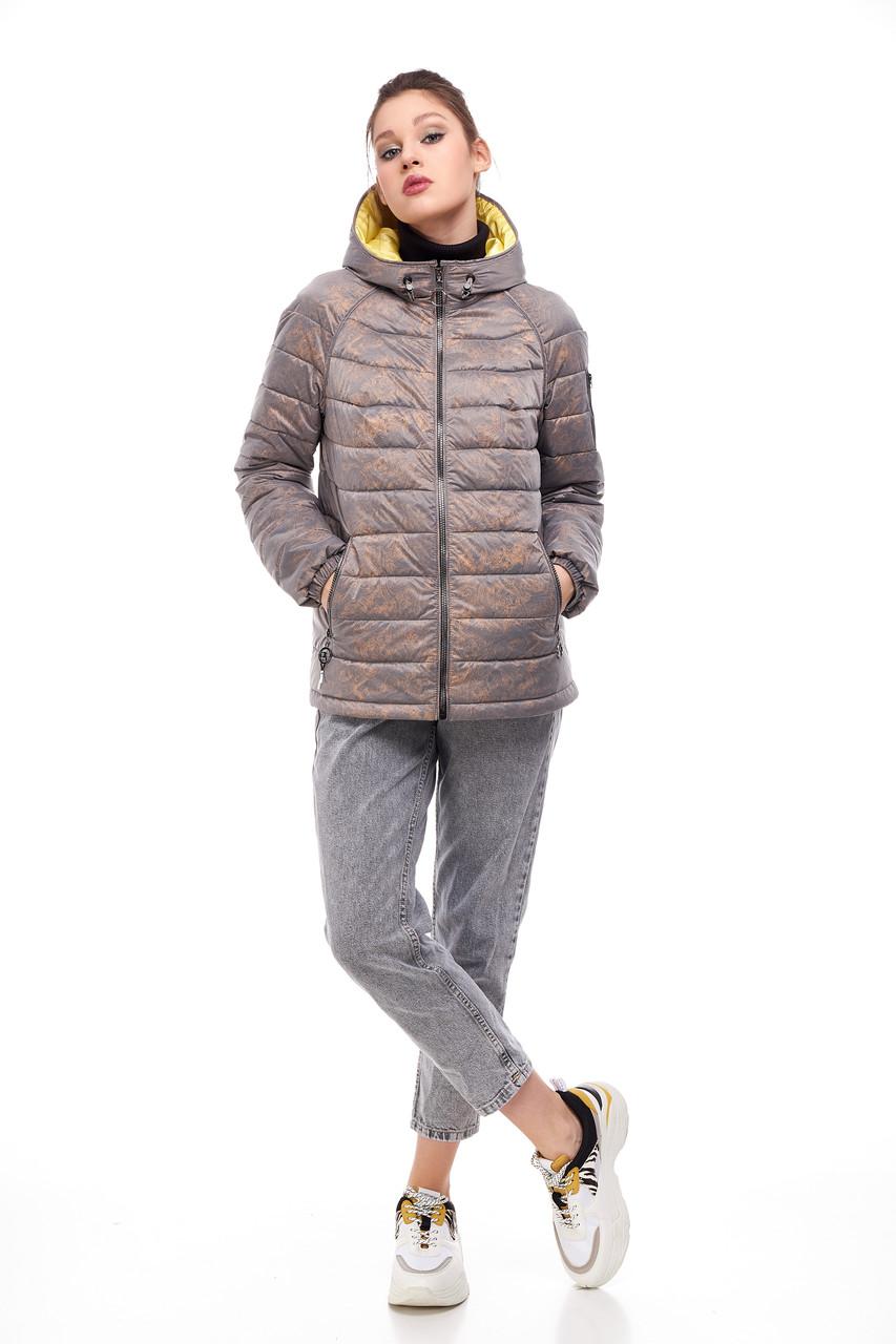 Красива жіноча куртка попелястого кольору, розмір 42-50