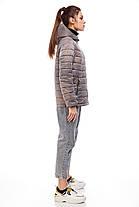 Красива жіноча куртка попелястого кольору, розмір 42-50, фото 2
