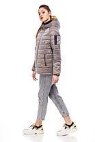 Красива жіноча куртка попелястого кольору, розмір 42-50, фото 3