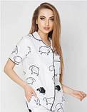 Женская хлопковая пижама, фото 2