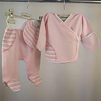 Комплект для грудничков: распашонка, ползунки, чепчик Интерлок | Комплект для немовлят