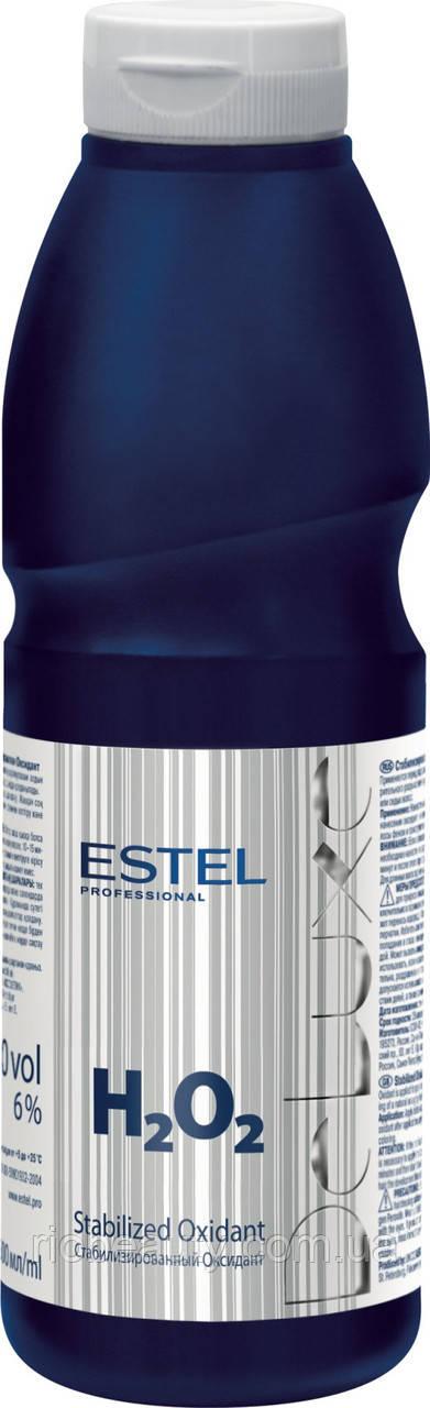 Стабілізований Оксидант для волосся (6%) H2O2 De Luxe, 500 мл