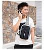 Сумка антивор через плечо Buddy Bag серая с чёрным, фото 5
