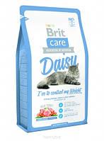 Корм для котов Brit Care Cat Daisy I have to control my Weight 2кг, брит для кошек и котов при ожирении
