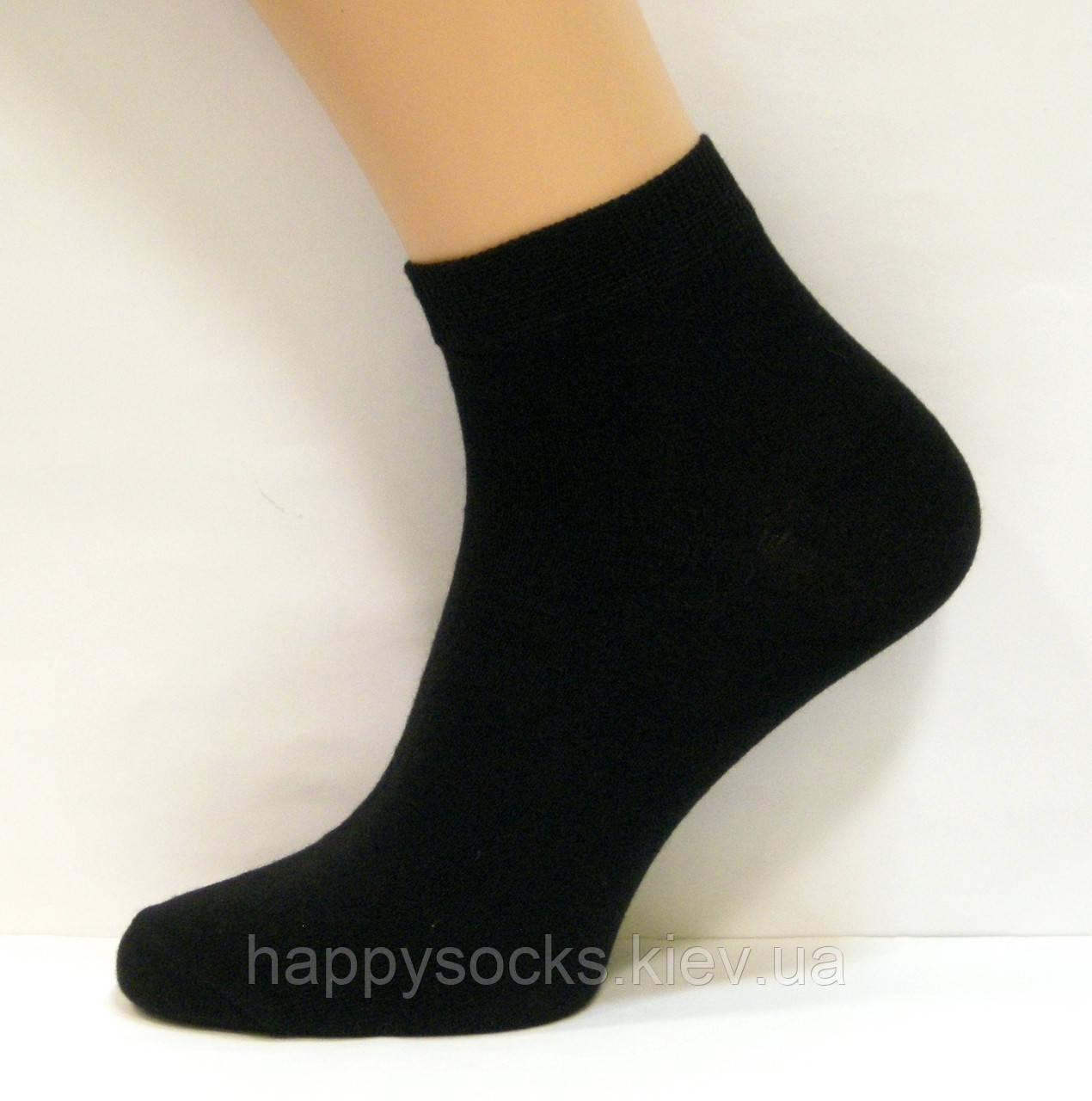 Чоловічі занижені шкарпетки чорного кольору бавовняні