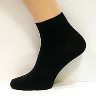 Чоловічі занижені шкарпетки чорного кольору бавовняні, фото 1