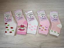 Махрові шкарпетки на дівчинку арт 8021 розмір 8-10