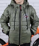 Детская куртка ветровка с отстегивающимися рукавами оптом 98–128