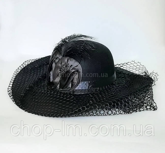 "Шляпа женская ""Дама"" (черная)"