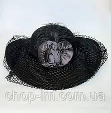 "Шляпа женская ""Дама"" (черная), фото 2"