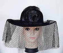 "Шляпа женская ""Дама"" (черная), фото 3"