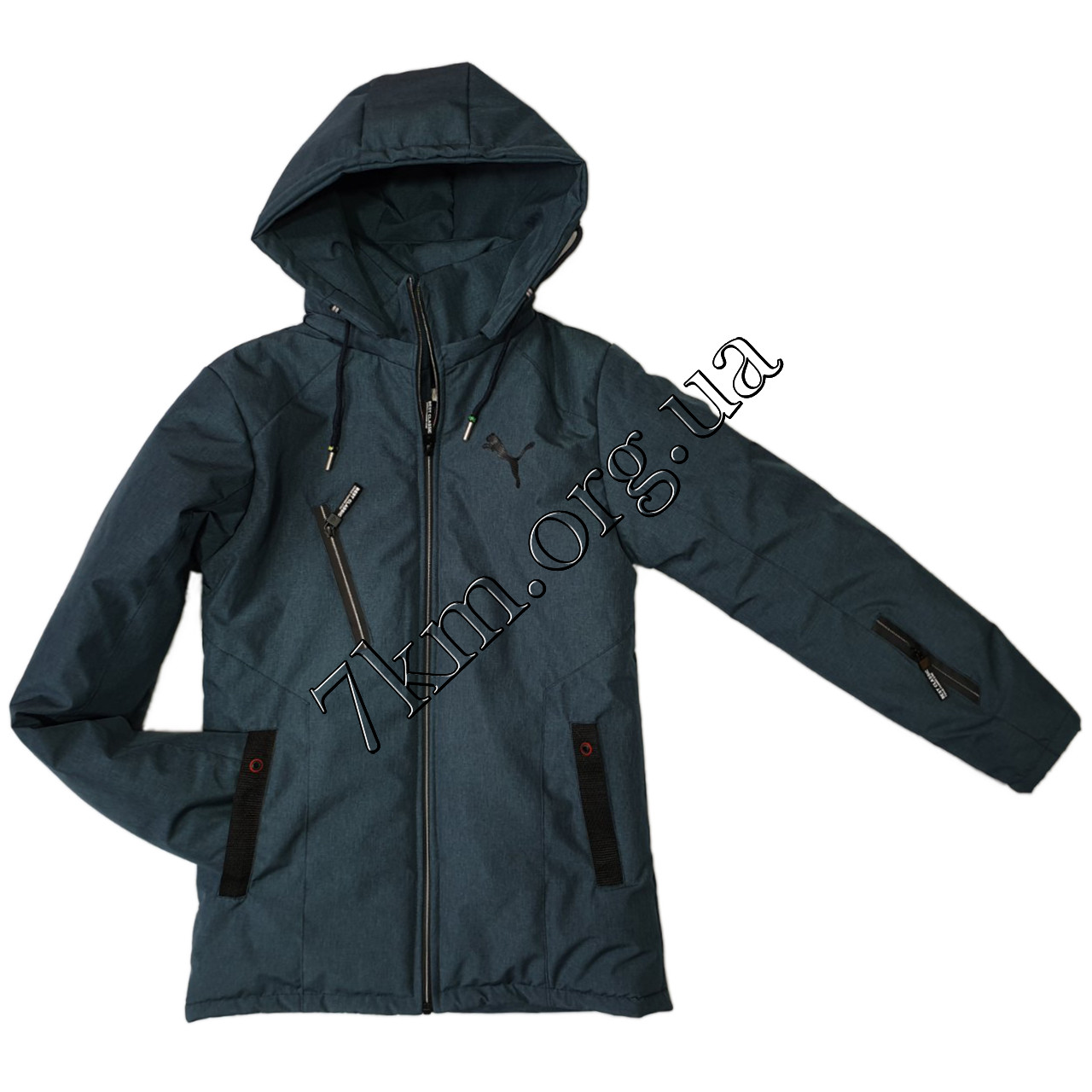 """Куртка подростковая оптом для мальчиков 10-15 лет """"реплика Puma"""" 220110-2"""