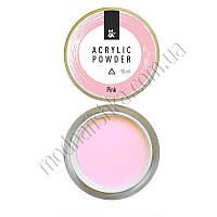 Акриловая пудра для моделирования F.O.X Acrylic Powder Pink, 50 мл