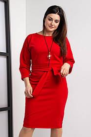 Стильное женское платье размер 44-64 красное