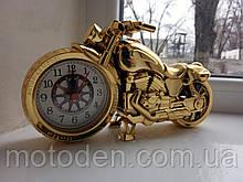 Будильник - мотоцикл, моточасы, часы настольные в виде мотоцикла (вариант 3)