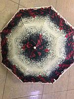 Женский зонт полуавтомат 8 спиц  2 сложения с цветочным принтом