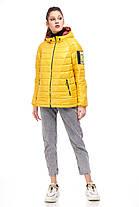 Яскрава жіноча куртка жовтого кольору, розмір 42-50, фото 2