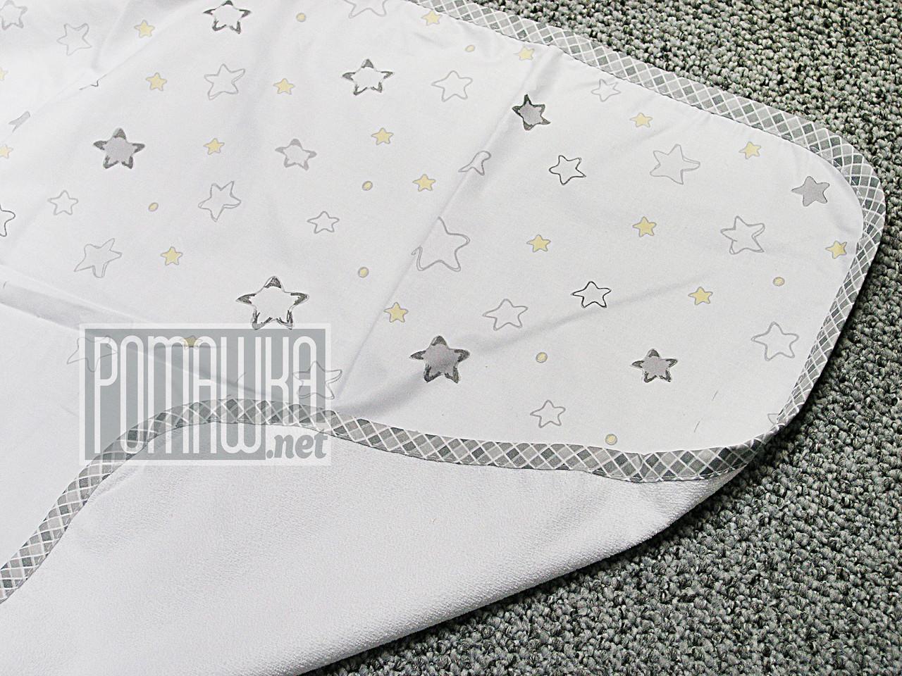 Непромокаемая пеленка 80х60 см для новорожденного (100% хлопок) двухсторонняя многоразовая 4242 Жёлтый
