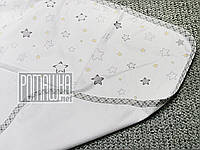 Непромокаемая пеленка 80х60 см для новорожденного (100% хлопок) двухсторонняя многоразовая 4242 Жёлтый, фото 1