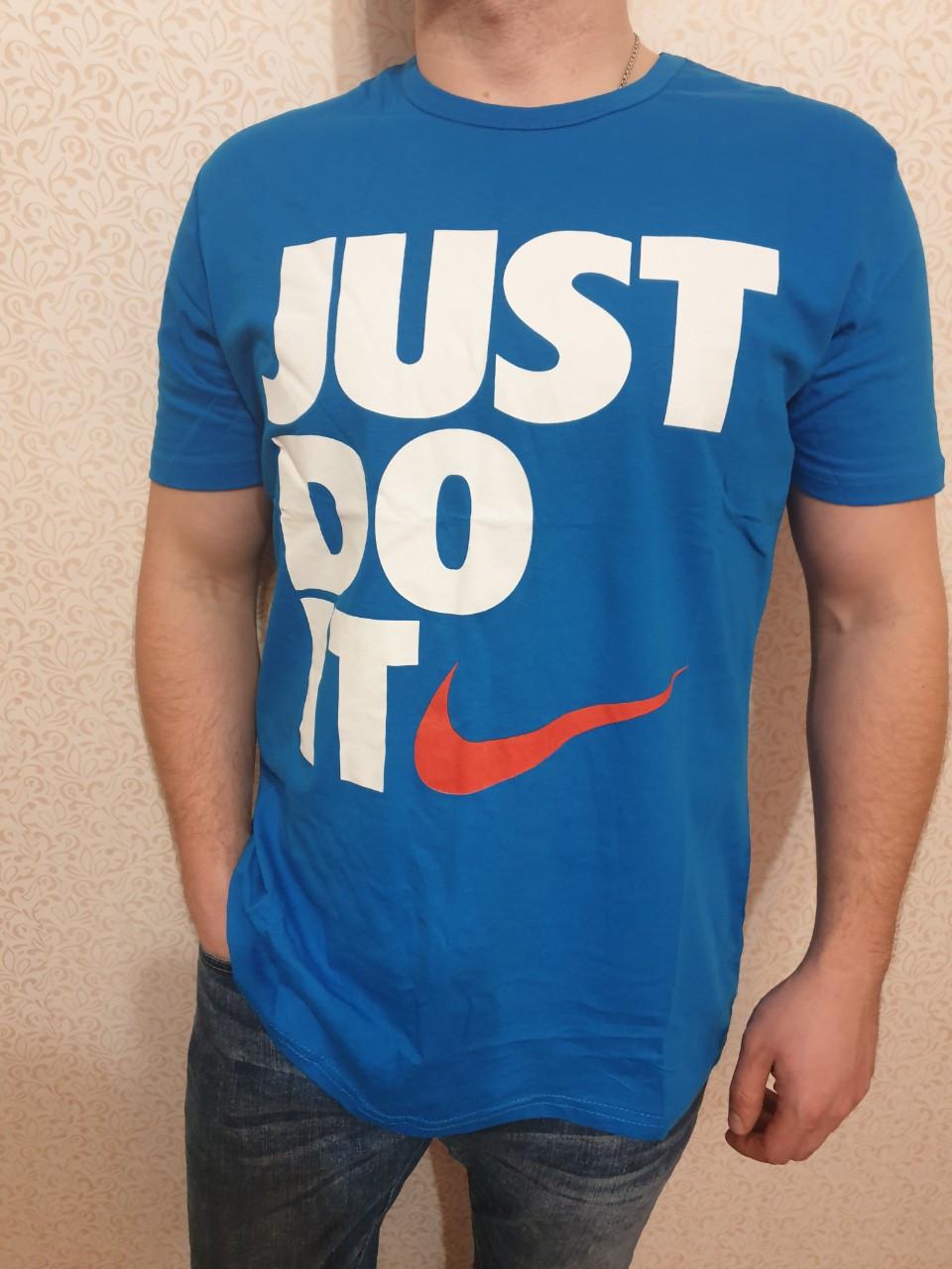 "Футболка мужская хлопковая ""Nike"" реплика Турция размер L-XXL (от 3 шт)"