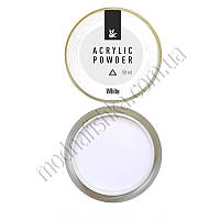 Акриловая пудра для моделирования F.O.X Acrylic Powder White, 50 мл