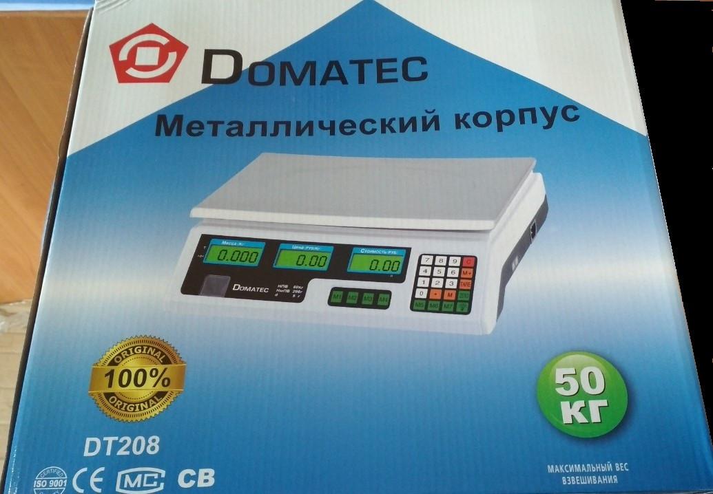 Весы торговые DOMOTEC MS-208, металлический корпус 50кг