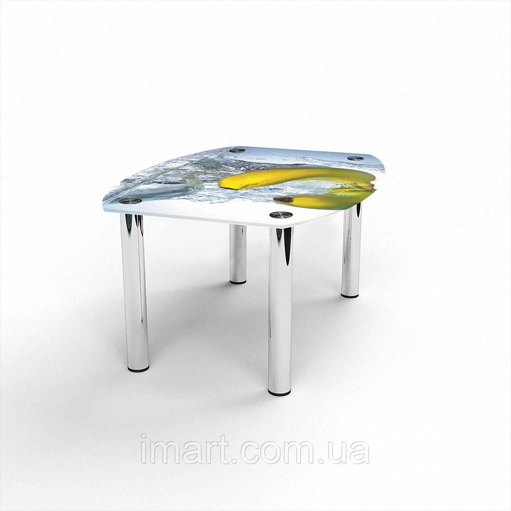 Журнальный стол Бочка Banana стеклянный