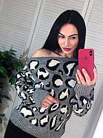 Женский свитер Лео с открытой спиной, фото 1