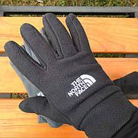 Зимние флисовые перчатки The North Face черный, фото 1