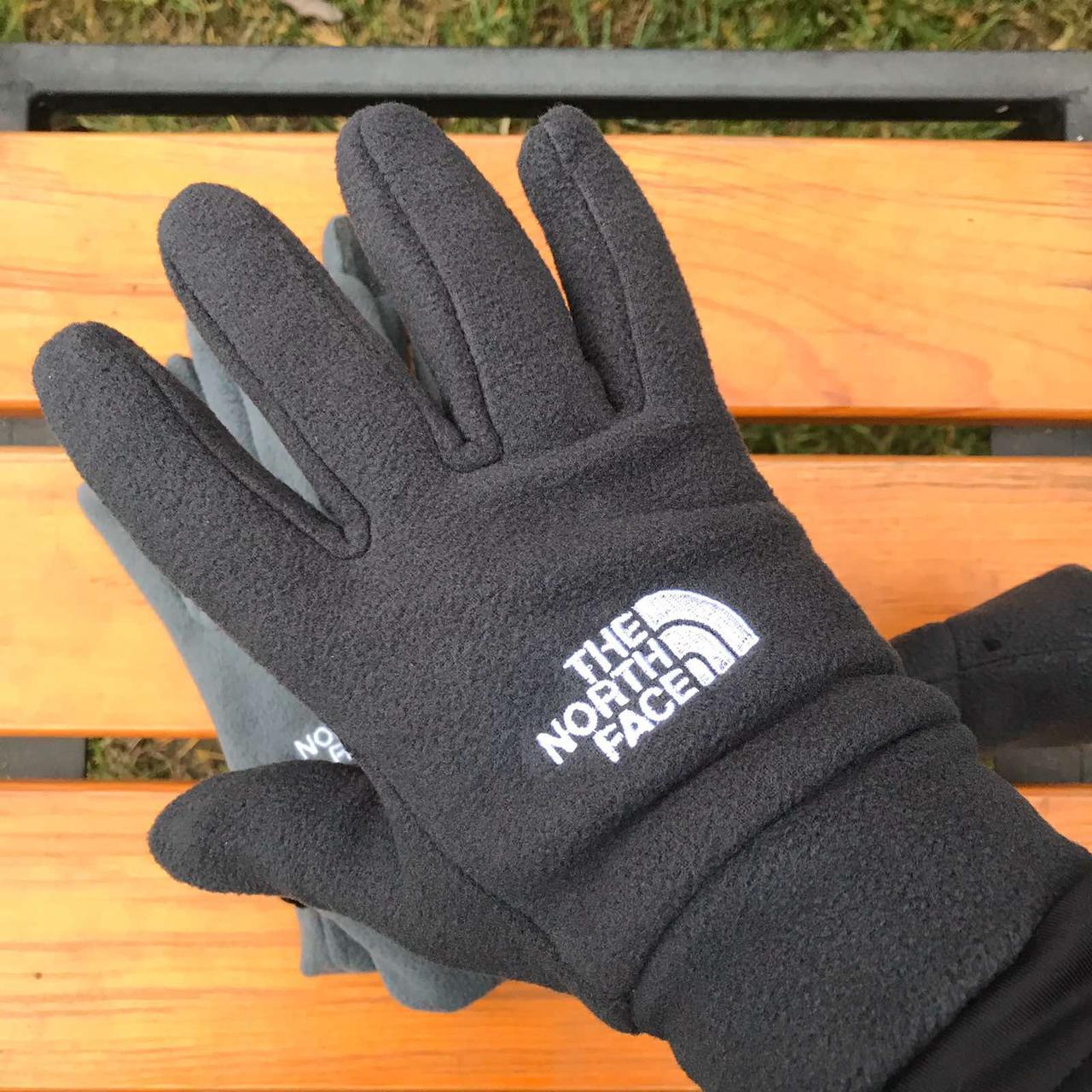 Зимние флисовые перчатки The North Face черный
