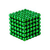 Зеленый Неокуб Neocube 216 магнитных шариков 5 мм.